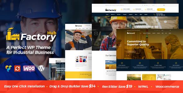 Сайт промышленный Factory HUB — (артикул 11) — 399$