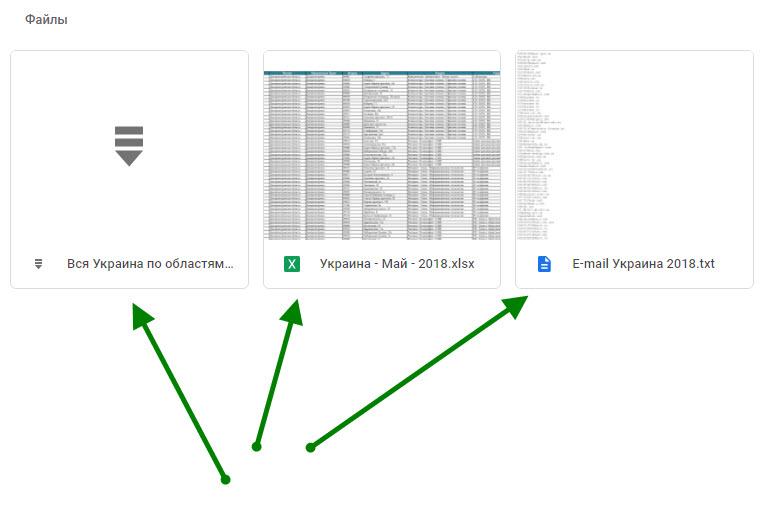 Текстовый файл Украина e-mail - это полный перечень всех e-mail из экселевских файлов за все периоды без дублей (для удобства рассылки)