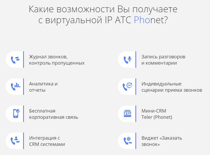 Виртуальная АТС Phonet