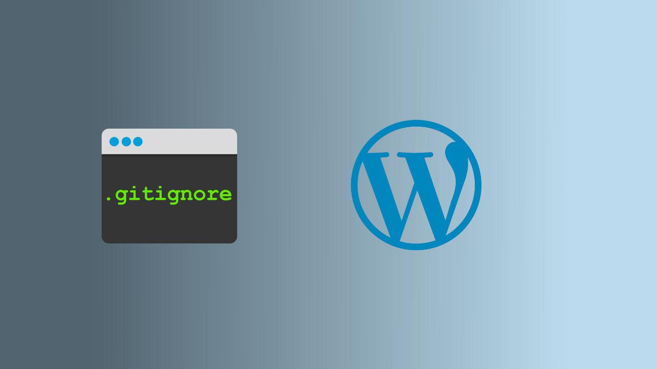 .gitignore для WordPress